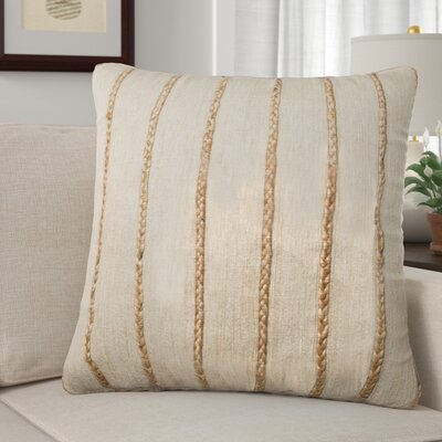 Claudia Throw Pillow Color: Beige