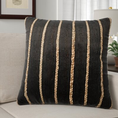 Claudia Throw Pillow Color: Black