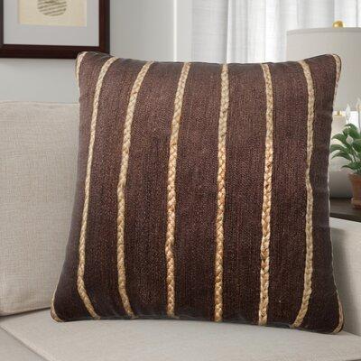 Claudia Throw Pillow Color: Brown