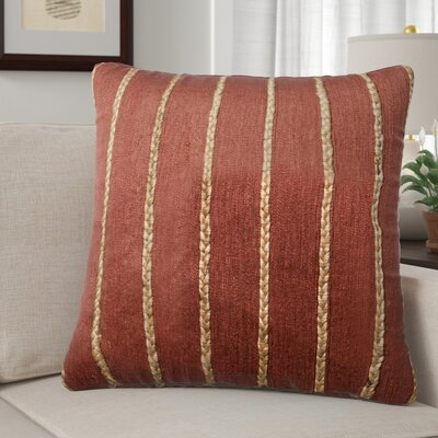 Claudia Throw Pillow Color: Rust/Steel
