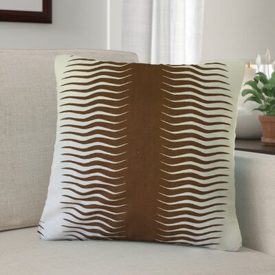 Arias Geometric Cotton Throw Pillow Color: Brown