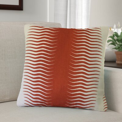 Arias Geometric Cotton Throw Pillow Color: Orange