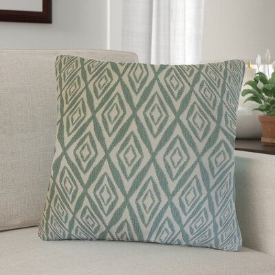 Baremeadow Geometric Cotton Throw Pillow Color: Aqua