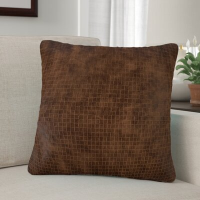 Barile Solid Throw Pillow Color: Brown