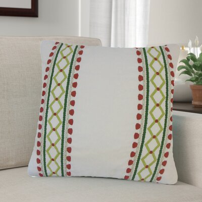 Barkbridge Geometric Cotton Throw Pillow Color: Red