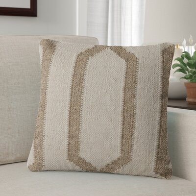 Centerburg Wool Throw Pillow Color: Ivory