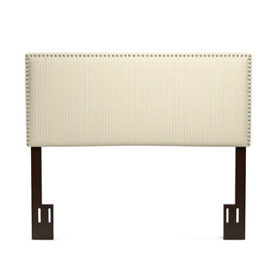 Lear Upholstered Panel Headboard Size: Full, Color: Sand Stripe