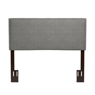 Lear Upholstered Panel Headboard Size: Full, Color: Black Tweed