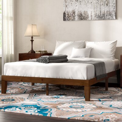 Hullinger Solid Wood Platform Bed Size: Queen
