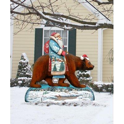 Grizzly Bear Santa Lawn Art D40934FE84BE4E6EB3ADB445512FDCC5