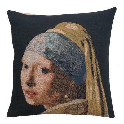 Shavonne Girl With the Pearl Earring Pillow Cover 1816E97A707949C0B64B604413F7350A