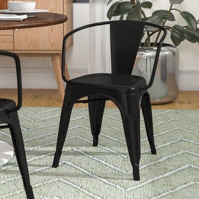 Alyssa Dining Chair Color: Black