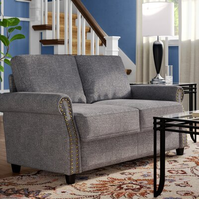 Senduk Classic Linen Standard Loveseat Upholstery: Light Gray