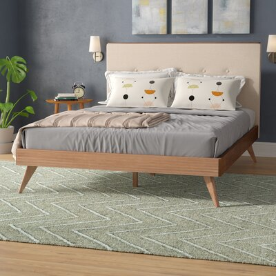 Wafer Upholstered Platform Bed Size: Queen