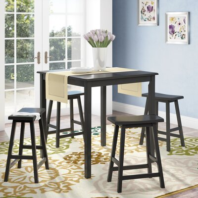 Whitworth 5 Piece Dining Set Color: Black
