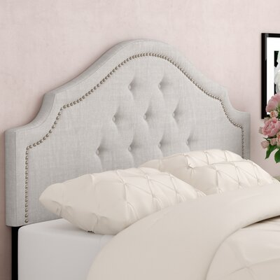 Lavinia Upholstered Panel Headboard Size: Queen, Upholstery: Grayish Beige