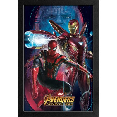 'Spiderman and Iron Man' Framed Graphic Art Print PAE01190F
