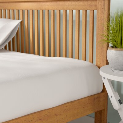 Clarke Fitted Sheet Color: White, Size: King