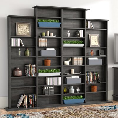 Quad Multimedia Storage Rack Color: Black