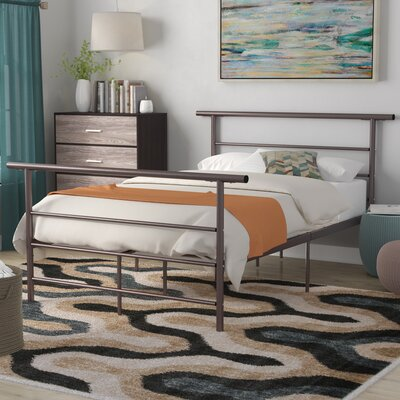 Carlton Platform Bed Size: Queen, Color: Black / Silver