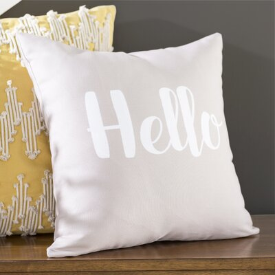 Newcastle Hello Throw Pillow Size: 18 H x 18 W x 3 D