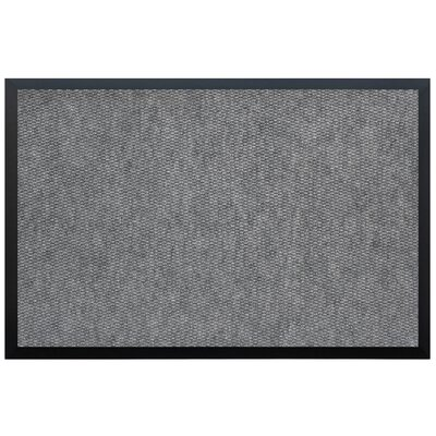 Leblanc Vinyl Backed Commercial Doormat Mat Size: Rectangle 2' x 3', Color: Charcoal ABCE05E7CA3B46E7BD1FC5D6730B01CB
