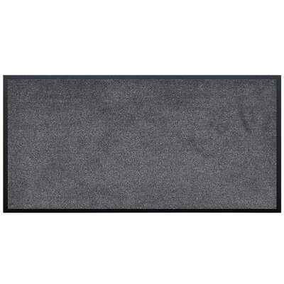 Lebo Vinyl Backed Commercial Doormat Color: Charcoal, Mat Size: Rectangle 3' x 6' 4230EE74A2974470932DD54D924E9756