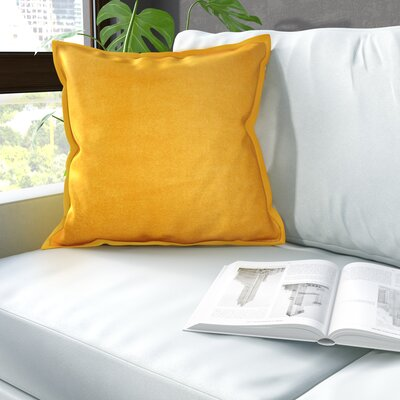 Phipps Decorative Velvet Throw Pillow Color: Yellow