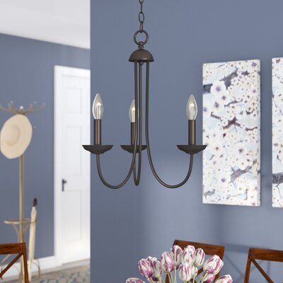 Bordelon 3-Light Candle-Style Chandelier Finish: Oil Rubbed Bronze
