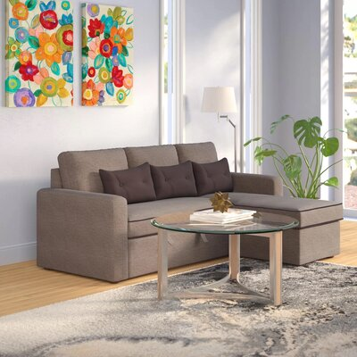 Cosmopolitan Sleeper Sectional Upholstery: Grey