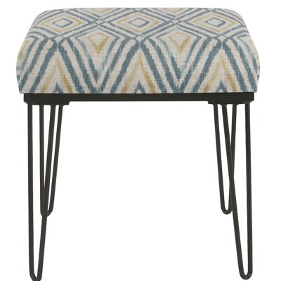 Cissus Ottoman Upholstery: Teal /Yellow