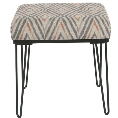Cissus Ottoman Upholstery: Orange/Gray
