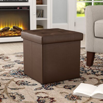 Francis Storage Ottoman Upholstery: Brown
