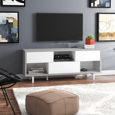 Grovetown TV Stand Color: Gray Croc/White