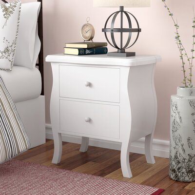 Worth 2 Drawer Nightstand Color: White