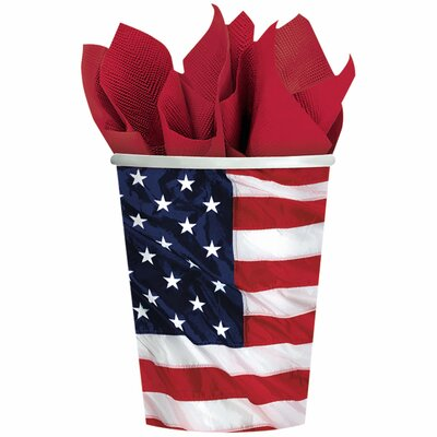 Patriotic Flying Colours 9 oz. Paper Cups 5850281
