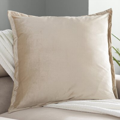 Baptista Velvet Euro Pillow Color: Champagne