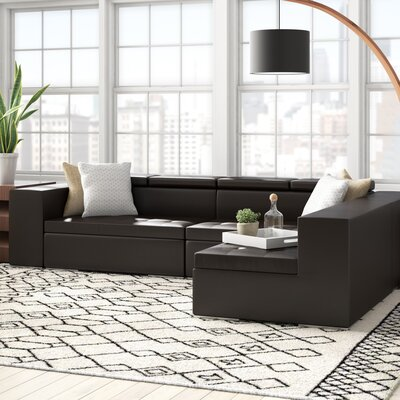 Oberlin Living Reversible Sectional Upholstery: Black