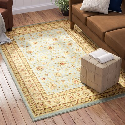 Fairmount Light Blue Area Rug Rug Size: Round 8