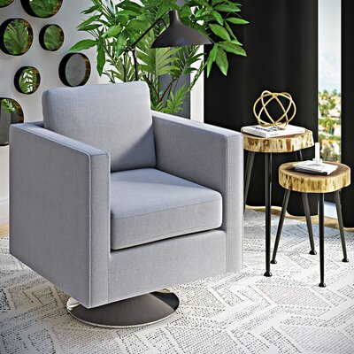 Elsmere Swivel Arm Chair Upholstery: Light Gray