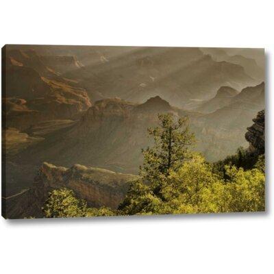 'Az, Grand Canyon, God Rays over Rock Formations' Graphic Art Print on Wrapped Canvas 2B169F32B7A64B74A7638D2B81E416EB