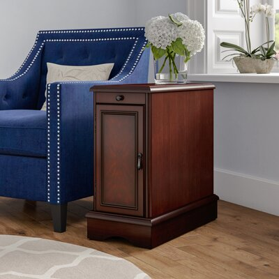Kipling End Table With Storage Color: Cherry