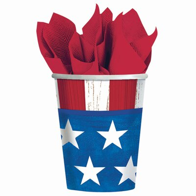 Patriotic Americana 9 oz. Paper Everyday Cup 689826