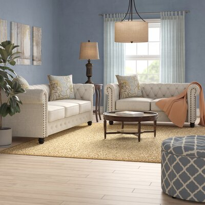 Hubert 2 Piece Living Room Set Upholstery: Beige