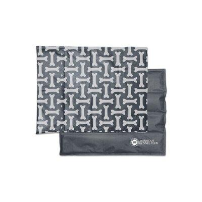 """Bone Pet Cooling Mat/pad Size: Large (20"""" W X 26"""" D X 0.5"""" H), Color: Gray"""