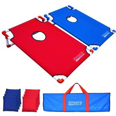 9 Piece Portable Toss Game Cornhole Board Set SF17045