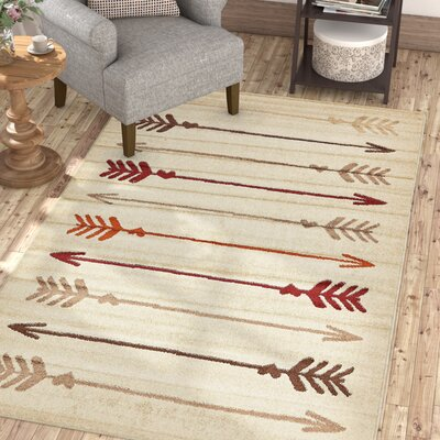 Picabo Beige Area Rug Rug Size: Rectangle 5 x 8