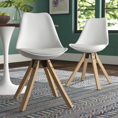 Violeta Upholstered Dining Chair Upholstery: White
