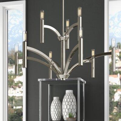 Manasi 9-Light Candle-Style Chandelier Finish: Polished Nickel