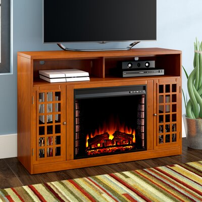 Hawley 48 TV Stand with Fireplace Finish: Glazed Pine